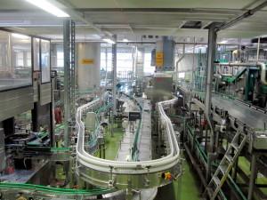 Ipari sörfőzde palackozó üzeme