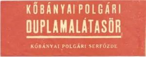 Kőbányai Polgári Serfőzde címkéje